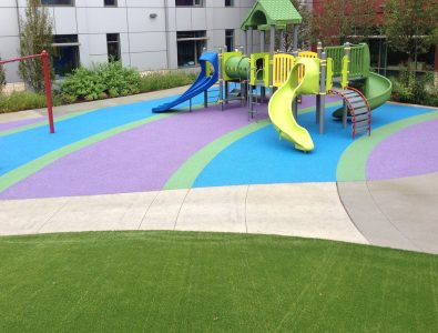 PlayBound Poured-in-Place playground surface.