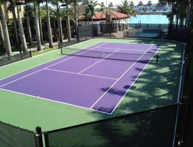 Laykold Masters 8 cushioned tennis court system.