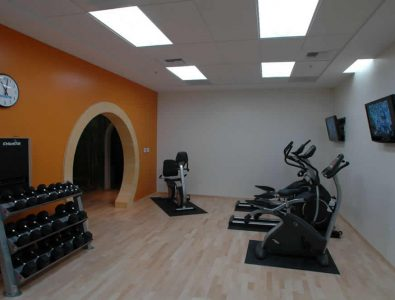 Boflex gym floor.