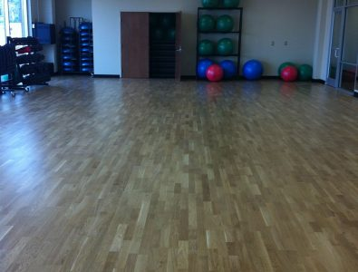 Boflex gym club floor.
