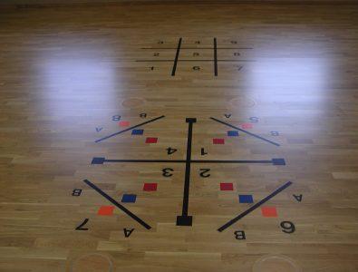 Boflex gym club floor.