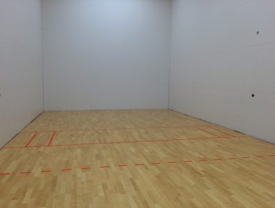 Boflex Maple racquetball court floor at Latitude Fitness in Peabody, MA.