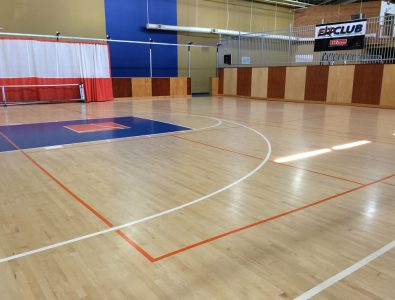 Boflex Maple gym floor at Latitude Fitness in Salisbury, MA.