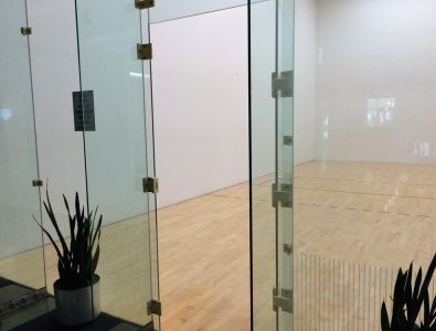 Boflex Maple racquetball court floor at Latitude Fitness in Salisbury, MA.