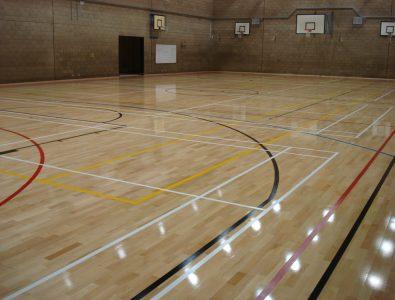 Boflex hardwood gym floor.