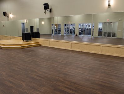 Bounce aerobics & Zumba room floor.