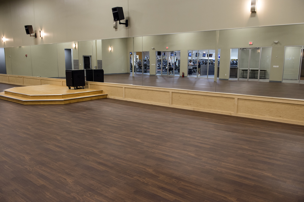Bounce exercise and fitness room flooring surface america