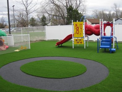 PlayBound TurfTop with rubber trike path at childcare facility.