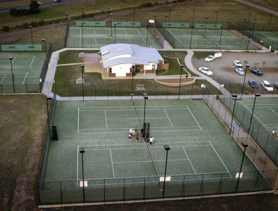 OmniCourt turf surfacing at tennis complex.
