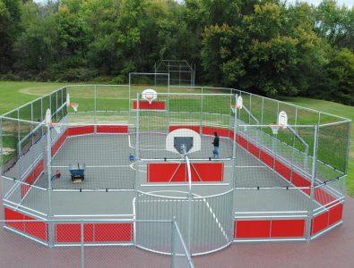 EverTop surrounding basketball court perimeter.