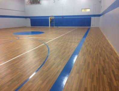 Bounce gym floor at Henrietta G. Lewis Campus School in Lockport, NY.