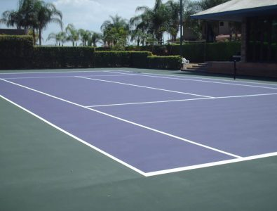 Laykold Masters Color tennis court surfacing over asphalt.