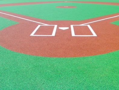 Miracle League all-rubber basball field.