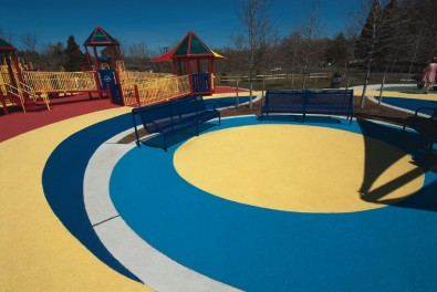 EverTop surface outside of impact zones on playground.