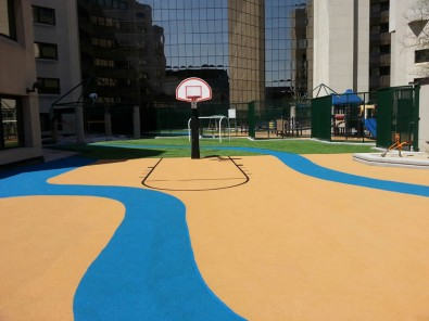 EverTop and Turf at outdoor play area.