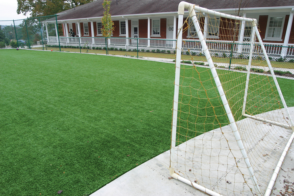 Turf play area at The Galloway School, GA.