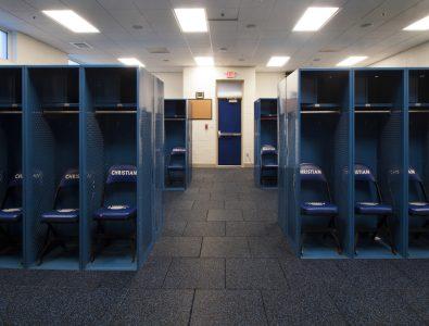 Performance UltraTile in Charlotte Christian locker room.