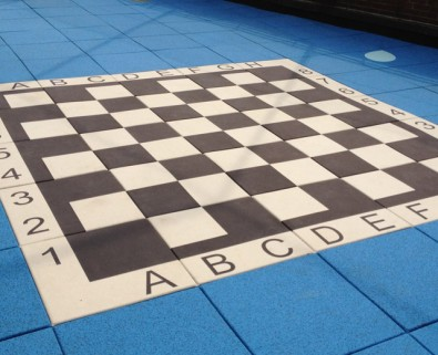 UltraTile Play checkerboard playground.