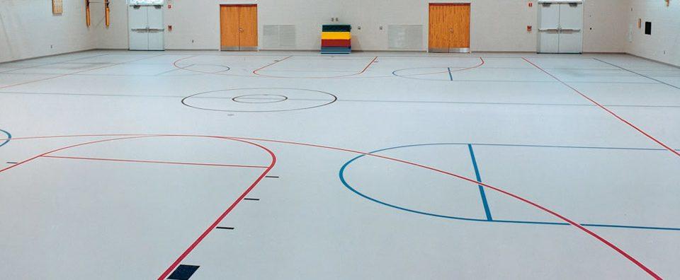 ElastoFloor at basketball gym.