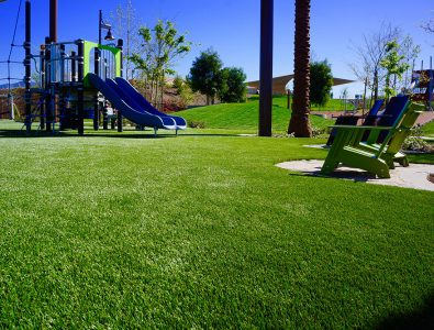 An installation of Surface America's PlayBound TurfTop at Linear Park