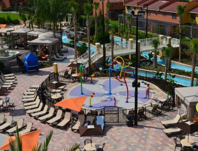 AquaFlex water play surfacing at Fantasy World Resort in Kissimmee, FL.