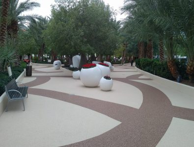 AquaFlex pool pathway surfacing at Aria® Las Vegas Hotel.