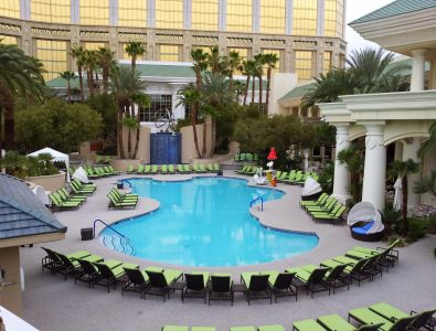AquaFlex pool decking at the Four Seasons Hotel in Las Vegas, NV.