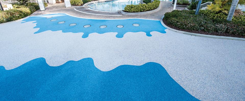 AquaFlex surface installed at a Marriott