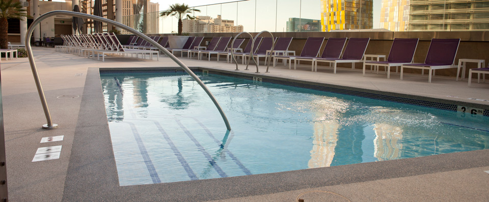 AquaFlex surfacing won't break down in chlorinated water or when exposed to UV rays.