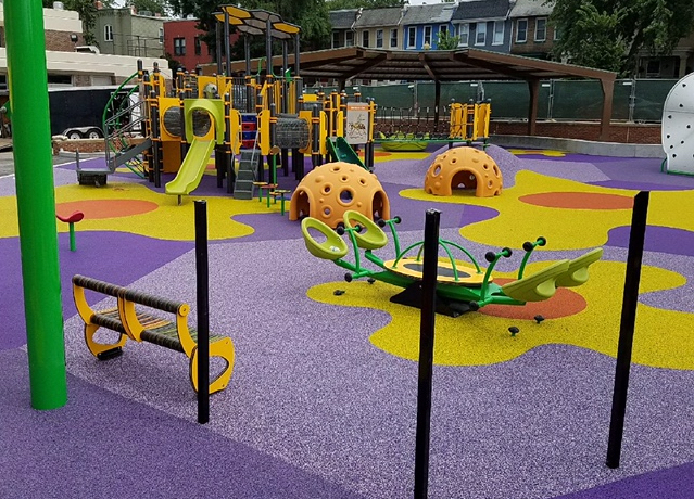 Playbound Poured In Place Rubber Playground Surface