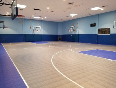 An installation of Mateflex in a gym.