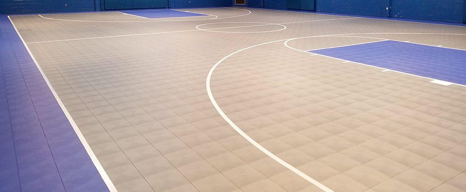 An installation of Mateflex in a gym.